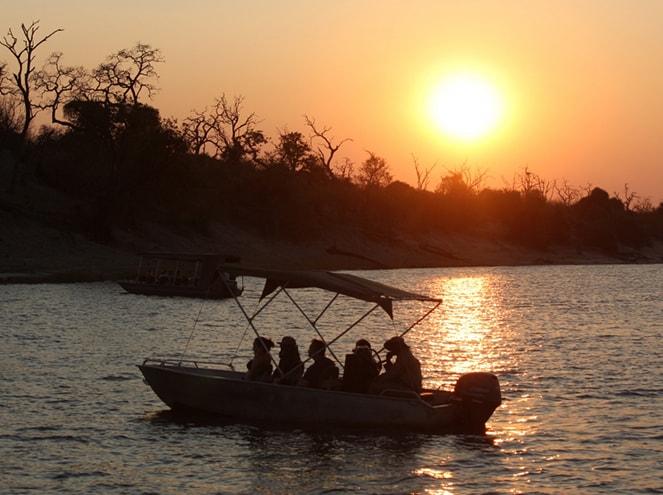 boat safari chobe national park botswana