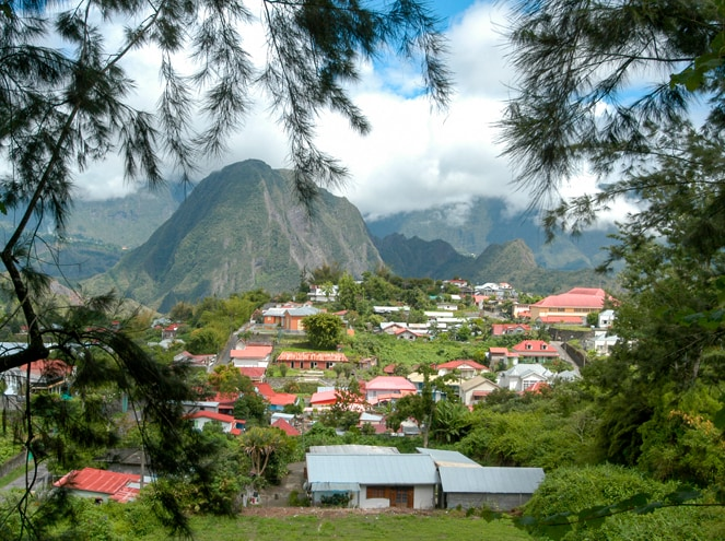 Reunion Island village of Hell-Bourg