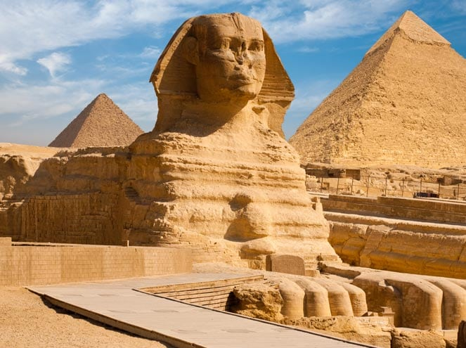 Famous Pyramids And Sphinx