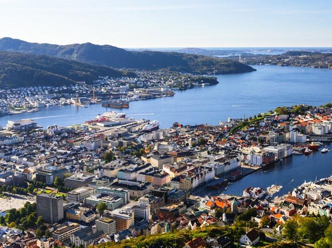 Panoramic tour of Bergen