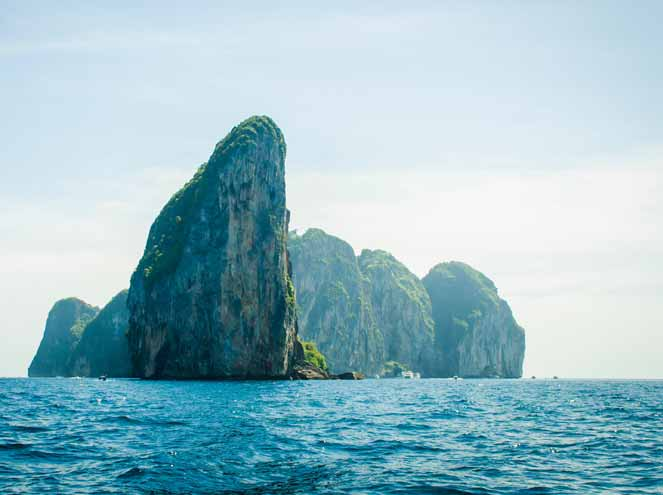 Cruise by big boat in Phi Phi islands