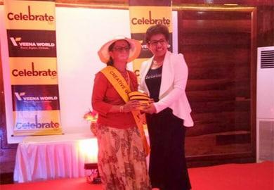 Ms Veena Patil awarding at fashion show, Andaman