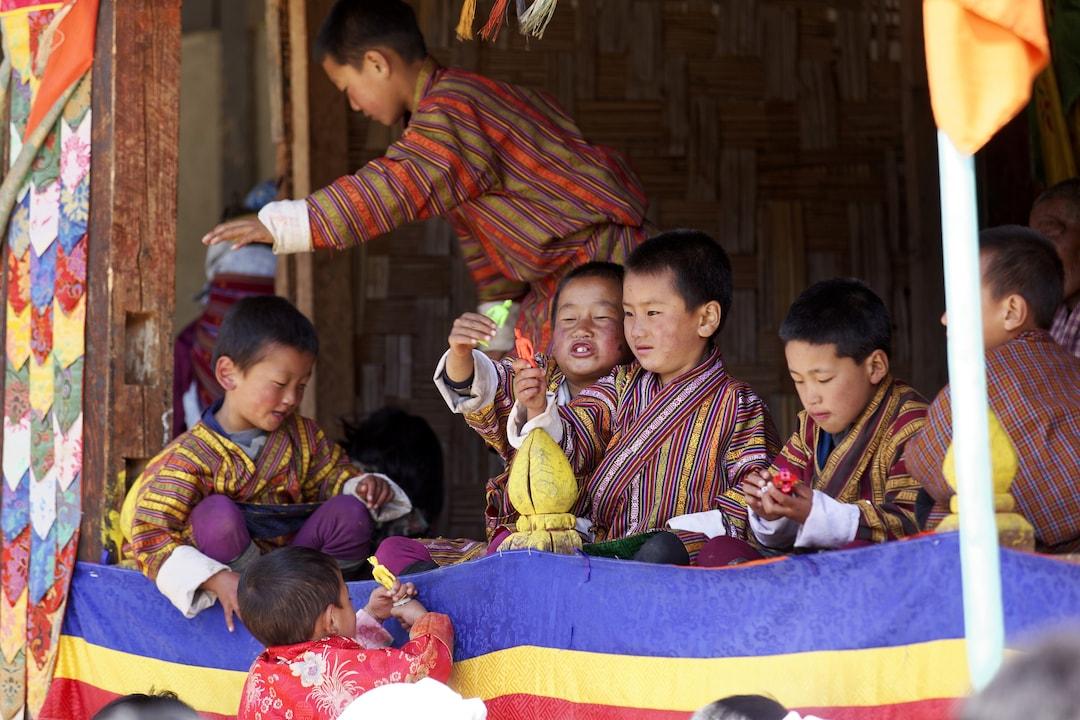 2 Festival Of URA YAKCHOE Bumthang BHUTAN Circa May 2015