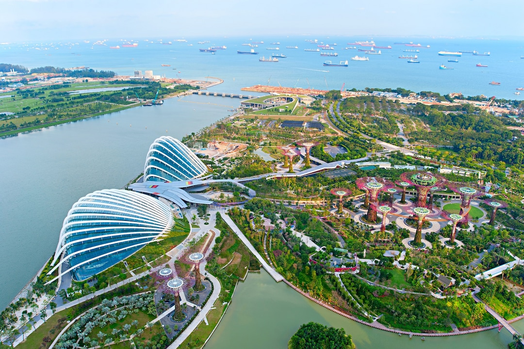 Bigstock Gardens By The Bay Bird S Eye 436991081