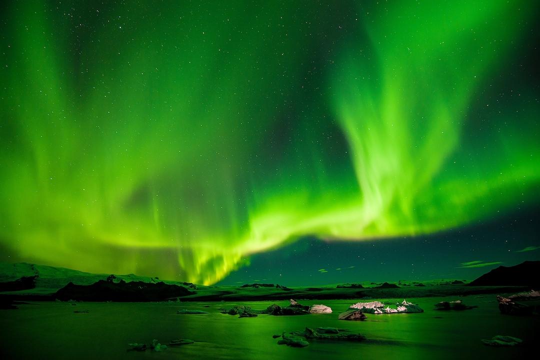 Luminous Green Northern Lights