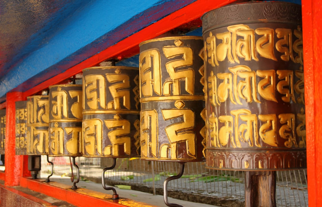 Stock Photo Prayer Wheels At Dro Dul Or Do Drul Chorten In Gangtok Sikkim India 122132059