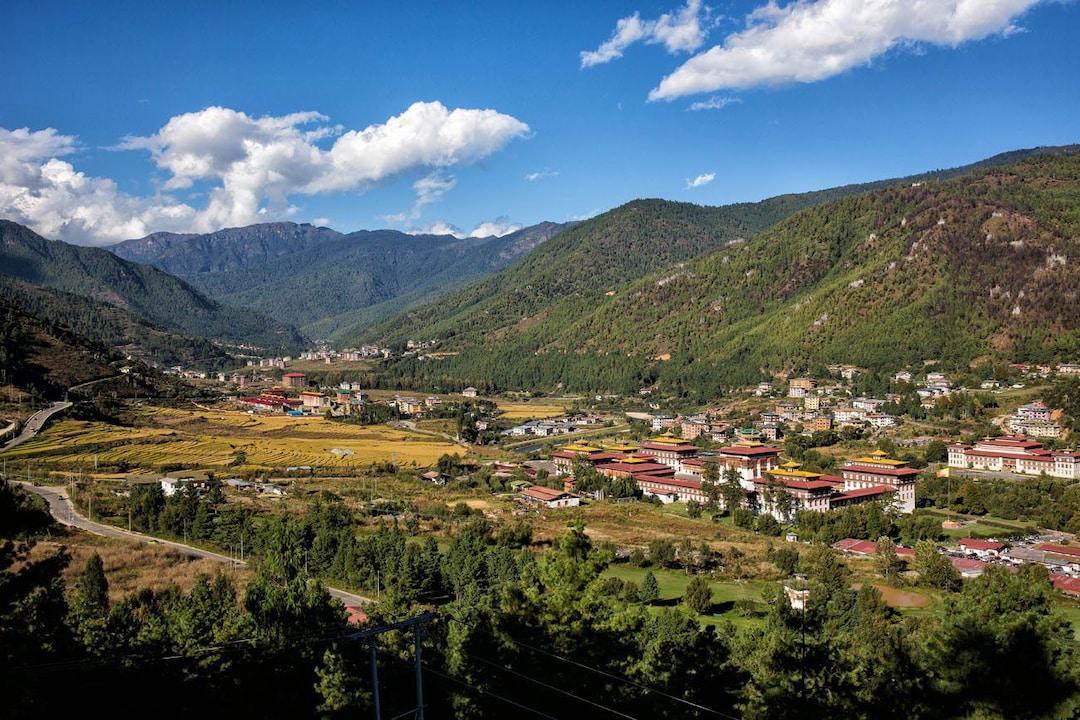 Thimphu valley in Bhutan