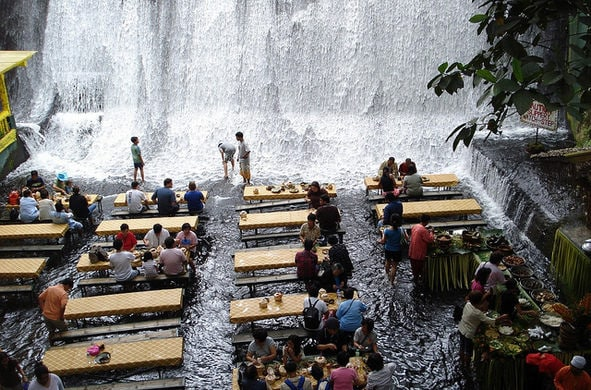 The Labassin Waterfall Restaurant, San Pablo City, Philippines