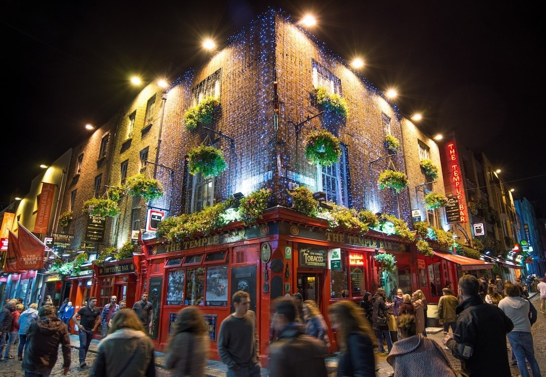 Partying at Temple Bar Area
