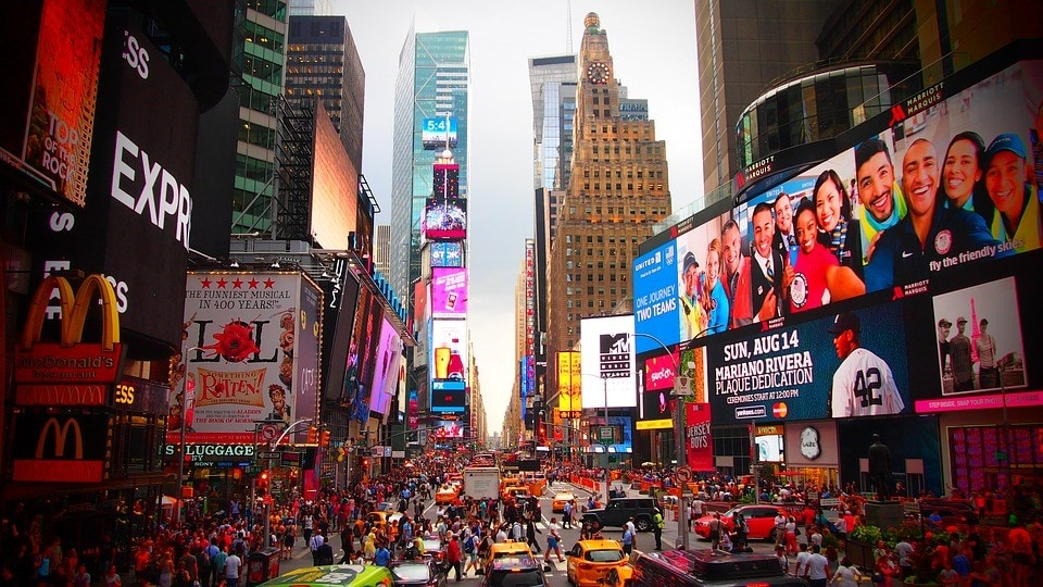 See The Dazzling Billboards At Times Square