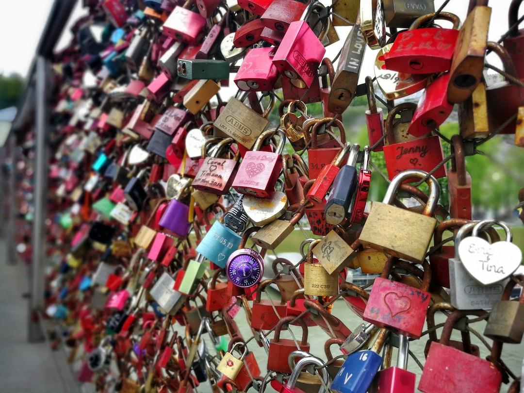 Love Lock Bridge In Austria