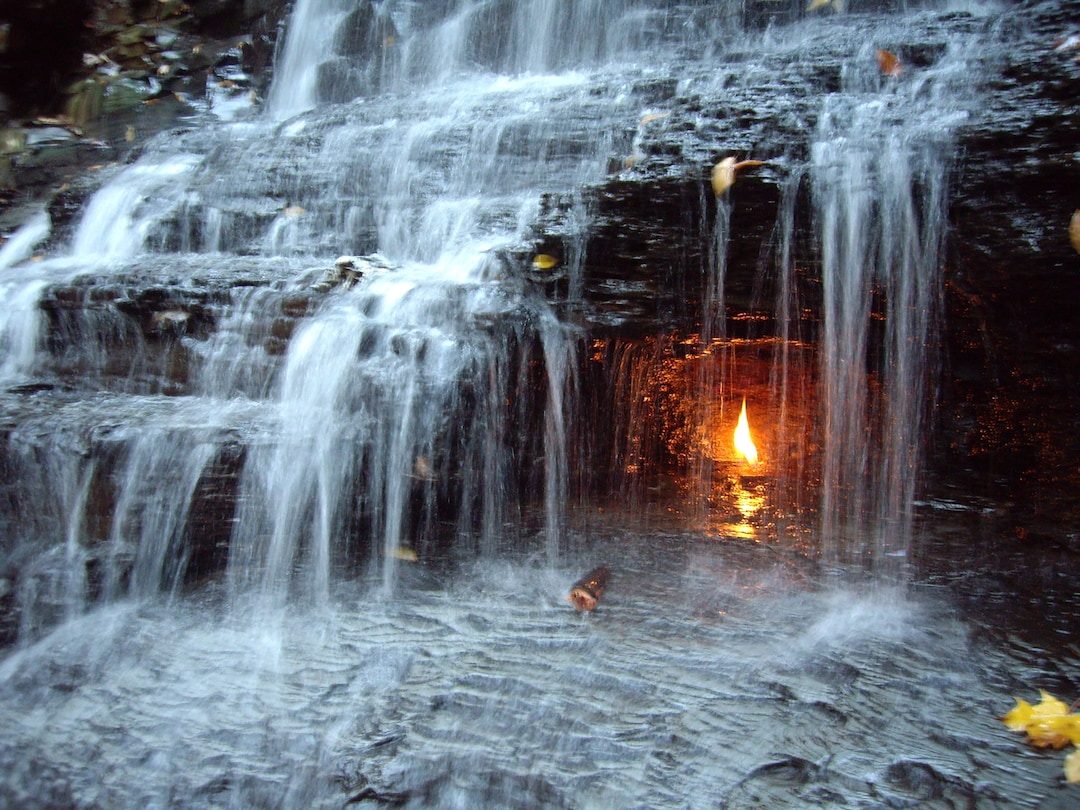 Eternal Flame Falls in the USA