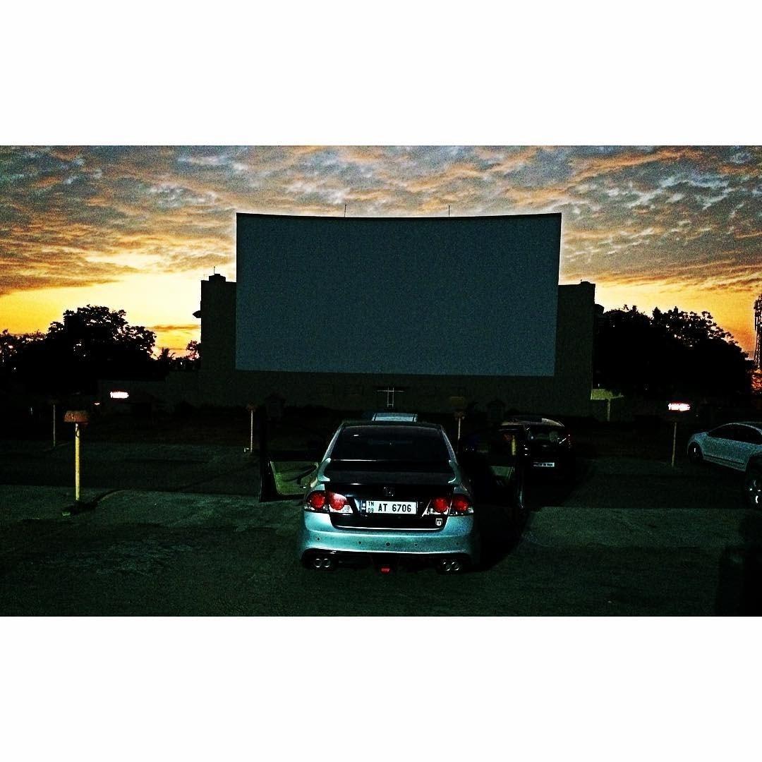 Drive-In Cinema at night