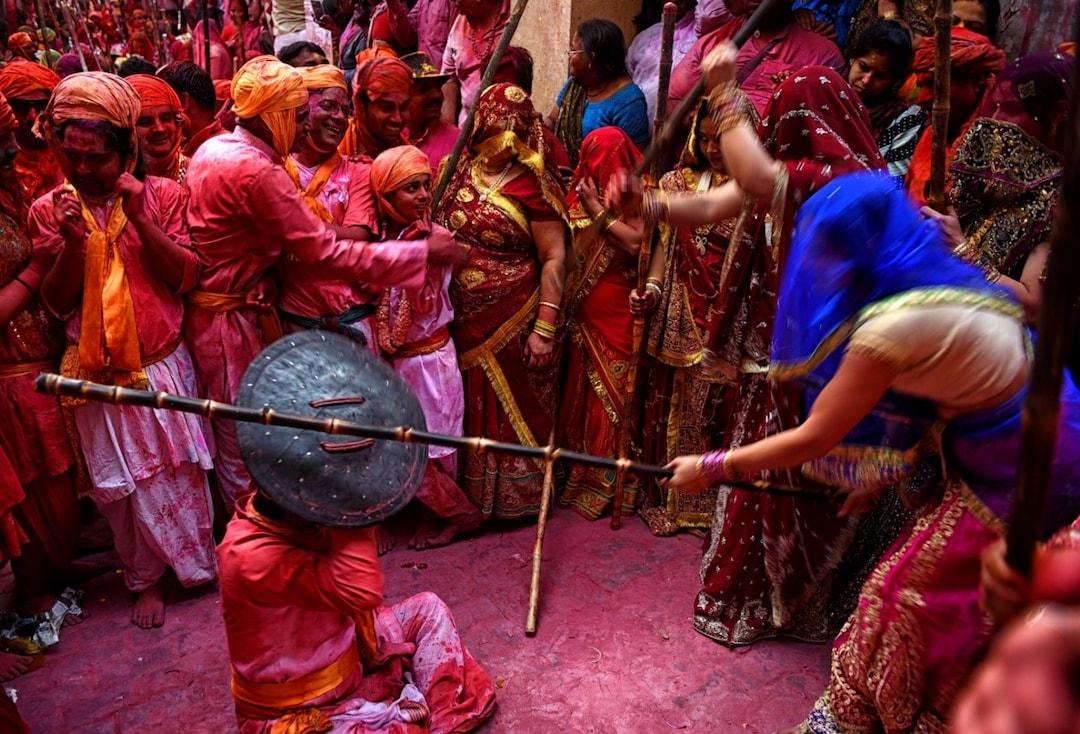 'LathMar' Holi in Mathura and Brindavan