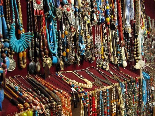 Semiprecious stones and silver jewellery